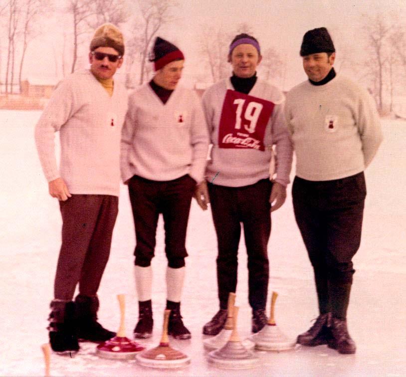 Schwäbischer Meister 1970,v. l. Karl Karg, Helmut Winkler, Franz Hefele, Rudolf Großmann
