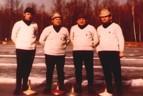 Oberliga Mannschaft 1972, v. l. Xaver Anger, Franz Hefele, Ernst Mayer, Erich Ziegeltrum